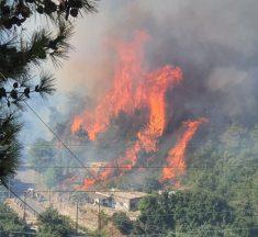 حريق القبيات الهرمل ما زال مستعراً وعمليات الاطفاء مستمرة!